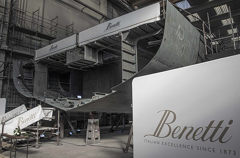 Construction begins on custom 62m Benetti FB283 yacht