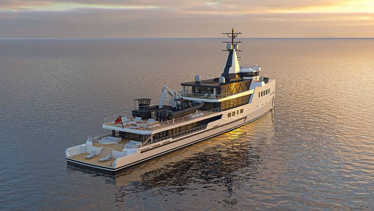 Damen Yachting signs new 72m hybrid explorer yacht